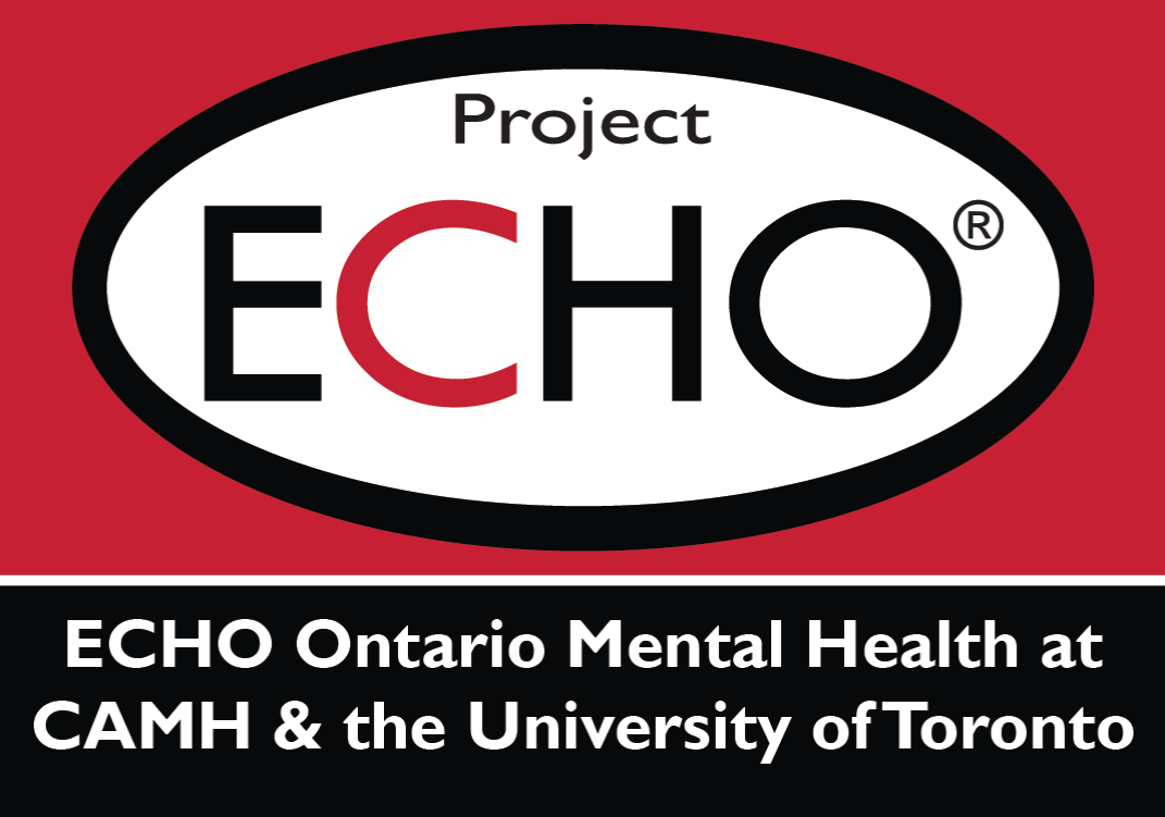 Logo of ECHO Ontario Mental Health at CAMH and the University of Toronto